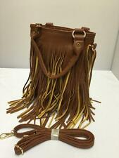 Brand New Tan Tassel Hobo Style Ladies Twin Handle Clutch Handbag Cross Body 722