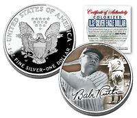 BABE RUTH 2005 American Silver Eagle Dollar 1 oz U.S. Colorized Coin Yankees