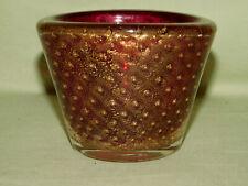 Barovier & Toso Glas Schale Goldstaub Murano Venetian Glass Gold Inclusions