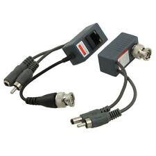 2 Coax Cctv video Audio Power Balun Transceiver Cat5 cable Bnc Rj45 camera