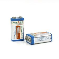 2pcs Etinesan 900mAh 9V 9 Volt 6F22 Block Lithium Ion Rechargeable 6F 22 Battery