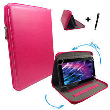 360° drehbare 7 zoll Tablet Tasche Hülle blackberry playbook - Pink 7 Zipper