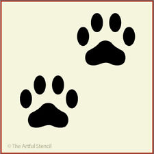 PAW PRINTS STENCIL - ANIMALS - The Artful Stencil