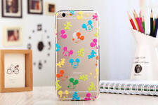 iPhone 6/6s (4'7) Funda carcasa gel silicona transparente Dibujos disney mickey