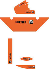 FLUORESCENT ORANGE EUROPEAN STYLE ROTAX RADIATOR STICKER KIT - KARTING