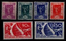 EXPOSITION de PARIS 1937, Neufs * = Cote 57 € / Lot Timbres France 322 à 327