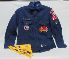 Official Cub Scouts B.S.A. Uniform Shirt Neckerchief Scarf Ring 4 Pins Awards