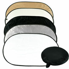 """Photo Light Multi Collapsible Reflector 24""""x36"""" 5in1 Disc Reflector w/ Carry Bag"""