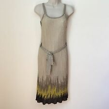 M MISSONI SLEEVELESS GOLD METALLIC DRESS SIZE 2 COCKTAIL