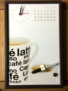 Magnetic Message Board with Clock