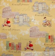 BonEful FABRIC Cotton Quilt Yellow White French Country Cottage Ethnic VTG SCRAP