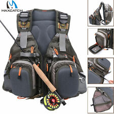Maxcatch Fly Fishing Backpack Adjustable Size Mesh Fishing Vest Pack
