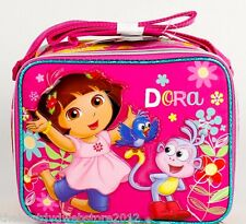 """Dora the Explorer Insulated Lunch Box -  10""""- Boots& Flowers- GIRLS-1339"""