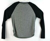 Oakley Mens T Shirt Solid Gray Size Medium Long Black Sleeve Hydrolix