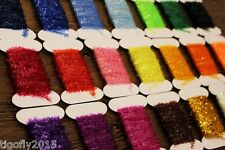 24 Colors Tinsel Chenille Crystal Flash Line Nymph Streamers Fly Tying Materials