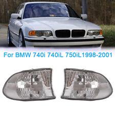 For BMW E38 7-SERIES 740i 740iL 750iL 98-01 Corner Lights Turn Signal Clear Lens