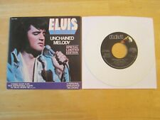 Elvis Presley 45rpm Record: Unchained Melody/Softly As I Leave You, White Vinyl