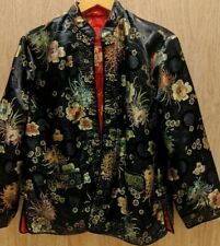 Chinese Ceremonial Silk Reversible Black/Red Padded Jacket Size M/L