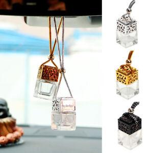 Car Air Freshener Perfume Bottle Diffuser Essential Oils Hanging Pendant Gift