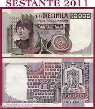 ITALIA ITALY 10.000 10000 LIRE BUSTO D'UOMO CASTAGNO 1978 P 106a FDS/UNC  2 FORI