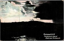 Thunderstorm, Isles of Shoals Near Portsmouth NH Vintage Postcard U24
