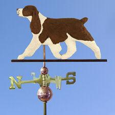 English Springer Spaniel Hand Carved Hand Painted Basswood Dog Weathervane Liver