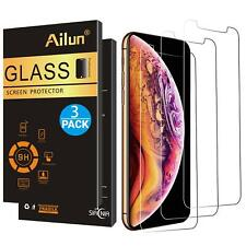 For iPhone Ten XS Max Screen Protector Advanced HD Clarity Tempered Glass 3 Pack