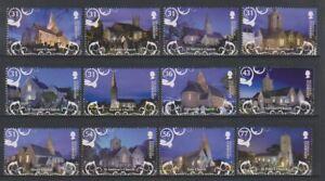 Guernsey - 2009, Christmas, Churches set - MNH - SG 1308/19