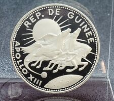 1970 GUINEA SILVER 250 FRANCS APOLLO XIII Astrology Gem PROOF SILVER COIN
