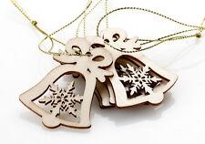 5Stk Weihnachten Holz Deko-Anhänger Anhänger Schmuck Glocken Christbaumschmuck