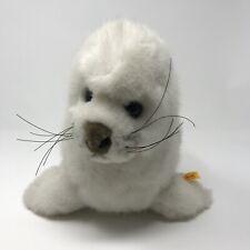 "Steiff - Knopf Im Ohr - White Baby Seal 16"" Plush - Id# 063152 German Germany"