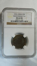 China Manchukuo 1 Fen, KT 2 / 1935, Y-6, NGC MS 62BN