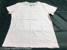 Size LARGE Hanes PINK 100% Organic Cotton Short Sleeve T Shirt Top Crew Neck
