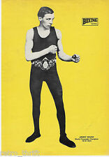 Boxing News Pinup Picture Jimmy Wilde World Flyweight Champion 1916-1923
