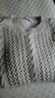 Angora /Cashmere Handknitted Jumper Cream M