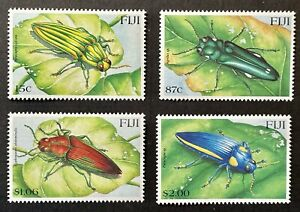FIJI BEETLES STAMPS SET 4V 2000 MNH INSECTS BUGS WILDLIFE NATURE SC #878-881