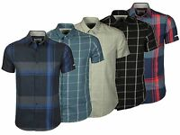 Mens Jack & Jones Slim Fit Casual Designer Shirt Checked Short Sleeve 5 Colours