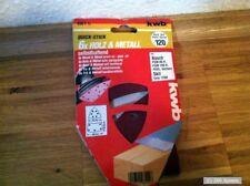 KWB Quick-Stick Schleifdreiecke, Holz, Metall, selbsthaftend, 100 x 62, 93mm NEU