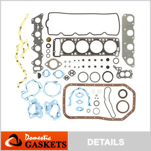 Fits 81-89 Chrysler Dodge Mitsubishi Plymouth 2.6L SOHC Full Gasket Set G54B