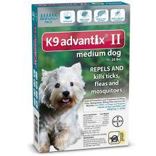 Bayer K9 Advantix II 11-20 lbs MD dog six  pack EPA product No expiration