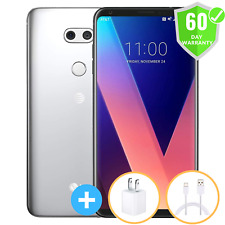 LG V30 | GSM Unlocked | AT&tT T-Mobile | Silver Black |  64GB | Excellent
