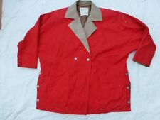 WOMENS LONDON FOG BUTTONED DOUBLE BREASTED JACKET RED SIZE 6 #W3209