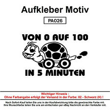 VON 0 AUF 100 - Autoaufkleber Aufkleber Fun Spaß Sticker Lustige Sprüche