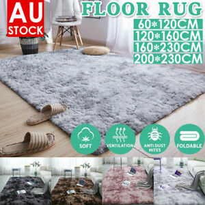 Rectangle Shaggy Carpet Bedroom Living Room Floor Pads Mat Soft Fluffy Area Rugs