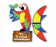 Premier Designs Island Parrot 20 inch Whirligig, Yard Garden Spinner