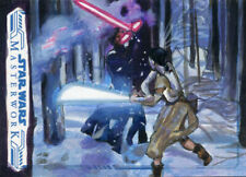 Star Wars Masterwork Sketch Card - LEE LIGHTFOOT - REY vs KYLO REN 2