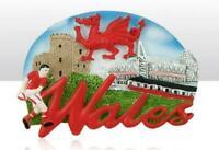 Gales Gran Bretaña Poli Souvenir Imán 7 cm Gran Bretaña