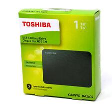 """Toshiba HDTB410EK3AA Canvio Basics Externe Festplatte 2,5"""" USB 3.0 1TB schwarz"""