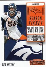(20) 2018 Panini Contenders VON MILLER Base Card LOT #70 Broncos QTY Avail