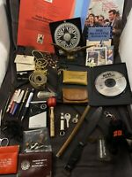 Vintage Antique Junk Drawer Lot Advertising Pieces & Miscellaneous Collectibles